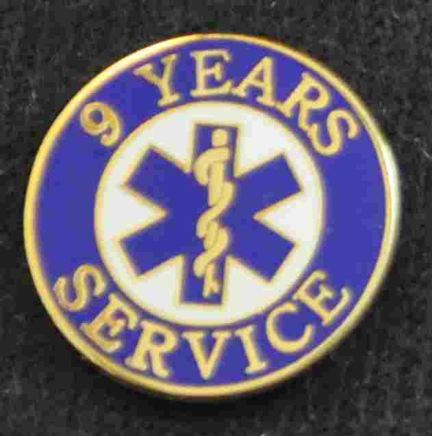 9 Year EMS Service Pin