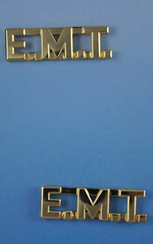 emt letter pins 38 high by 1 14