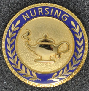 RN Caduceus Lapel Pin Registered Nurse Emblem Graduation ...  |Nursing Graduation Pins