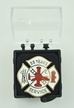 55 year firefighter pin of gift box
