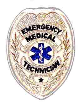 Emergency Medical Technician Badge, Silver