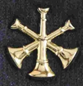 Triple Bugle Pin Sold in pairs