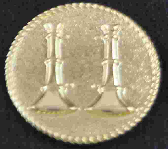 Uniform Button  Double Bugle Sold in pairs