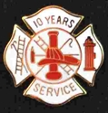 10 years Fire Service pin