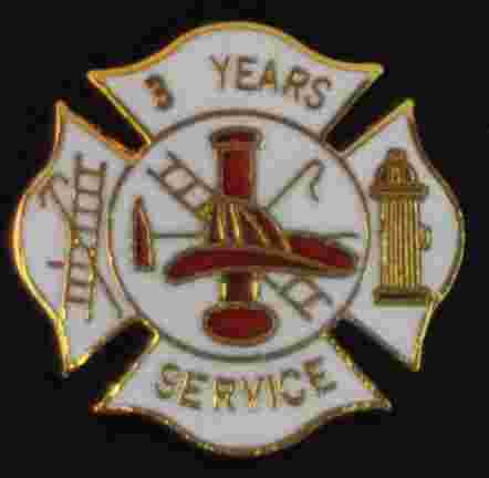 3 years Fire Service pin