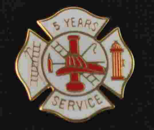 5 years Fire Service pin