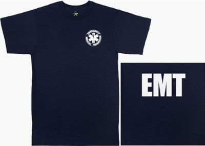 Navy Blue 2-Sided EMT T-Shirt