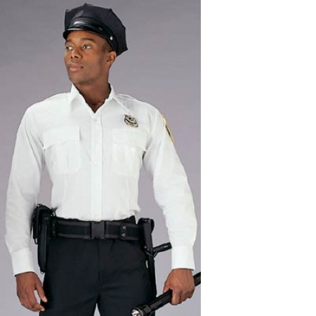 White Long Sleeve Genuine Police, Security, EMT Uniform Shirt