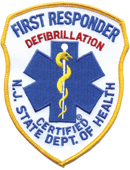 New Jersey First Responder Patch Royal on White