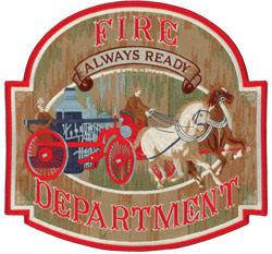 Old-Time Fire Department Back Patch