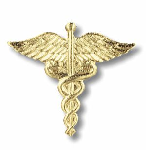 Caduceus - Gold Plate Pin