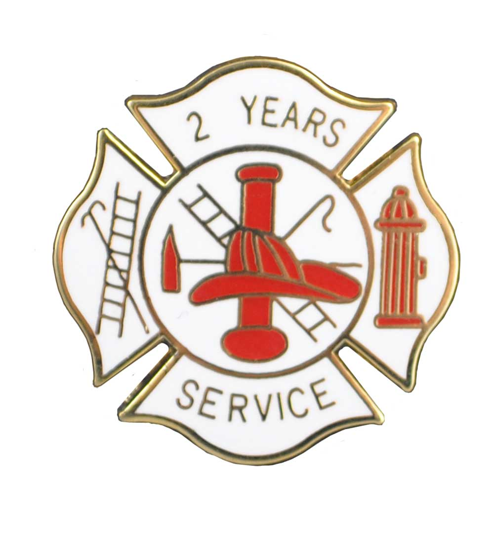 2 years of service pin for fire department