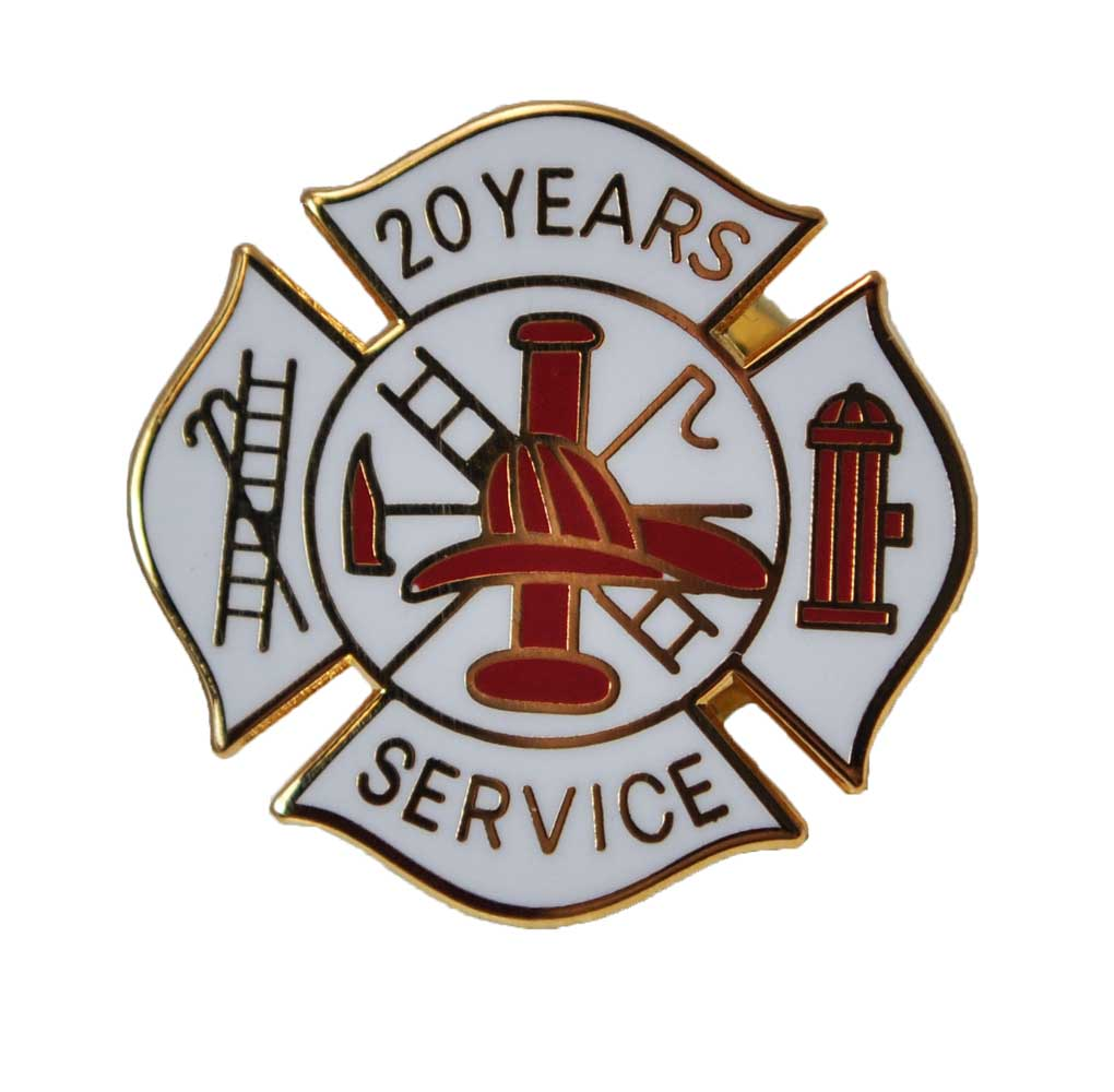Fire Department 20 Years of Service pins
