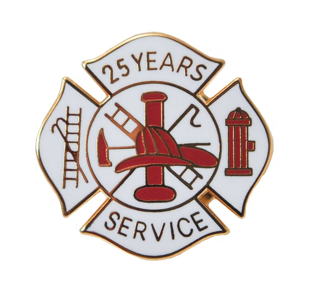 Fire Department 25 years of service pins