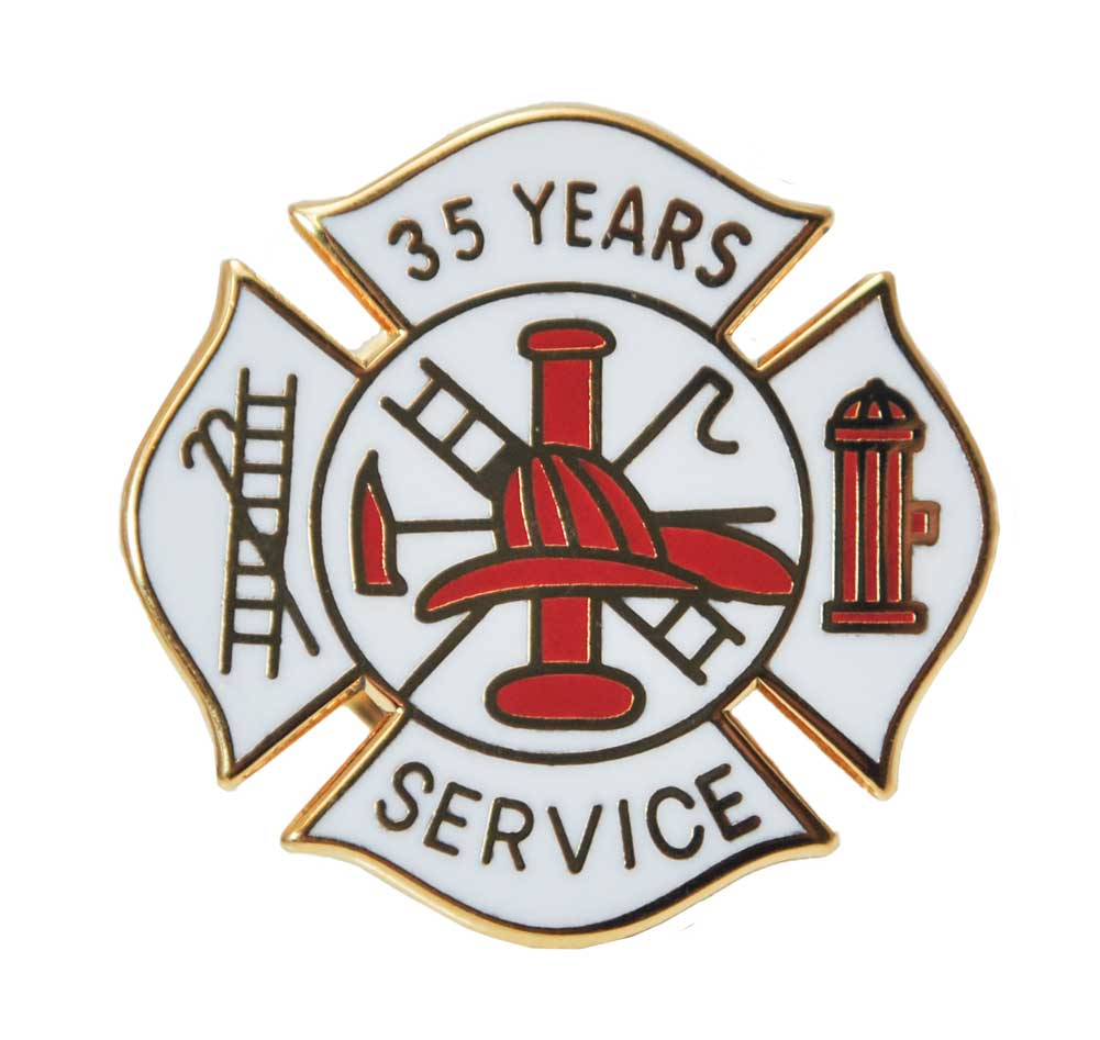 Fire Department 35 years of Service Pin