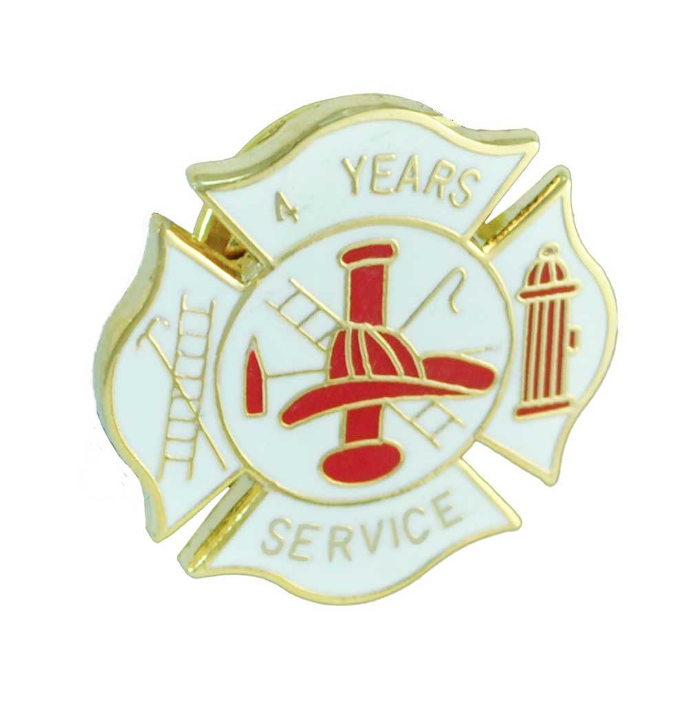 Fire Department 4 years of service pin