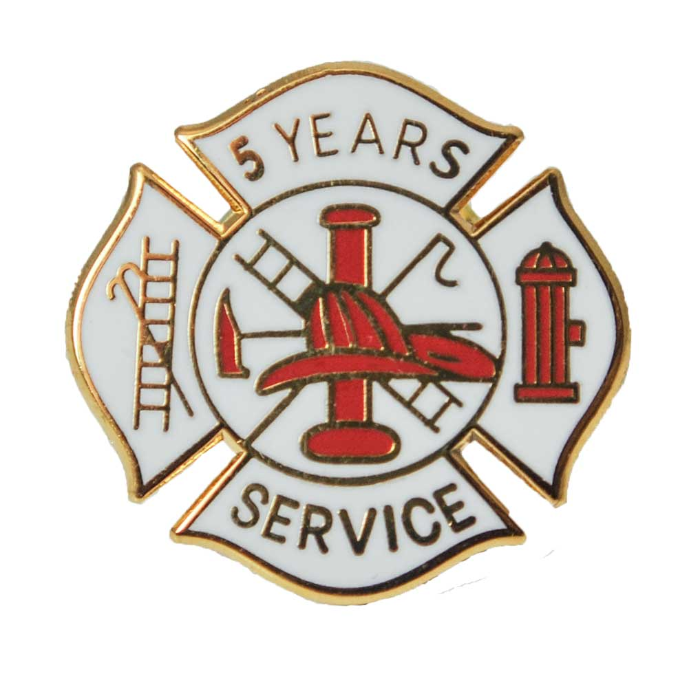 Fire Department 5 years of service pin