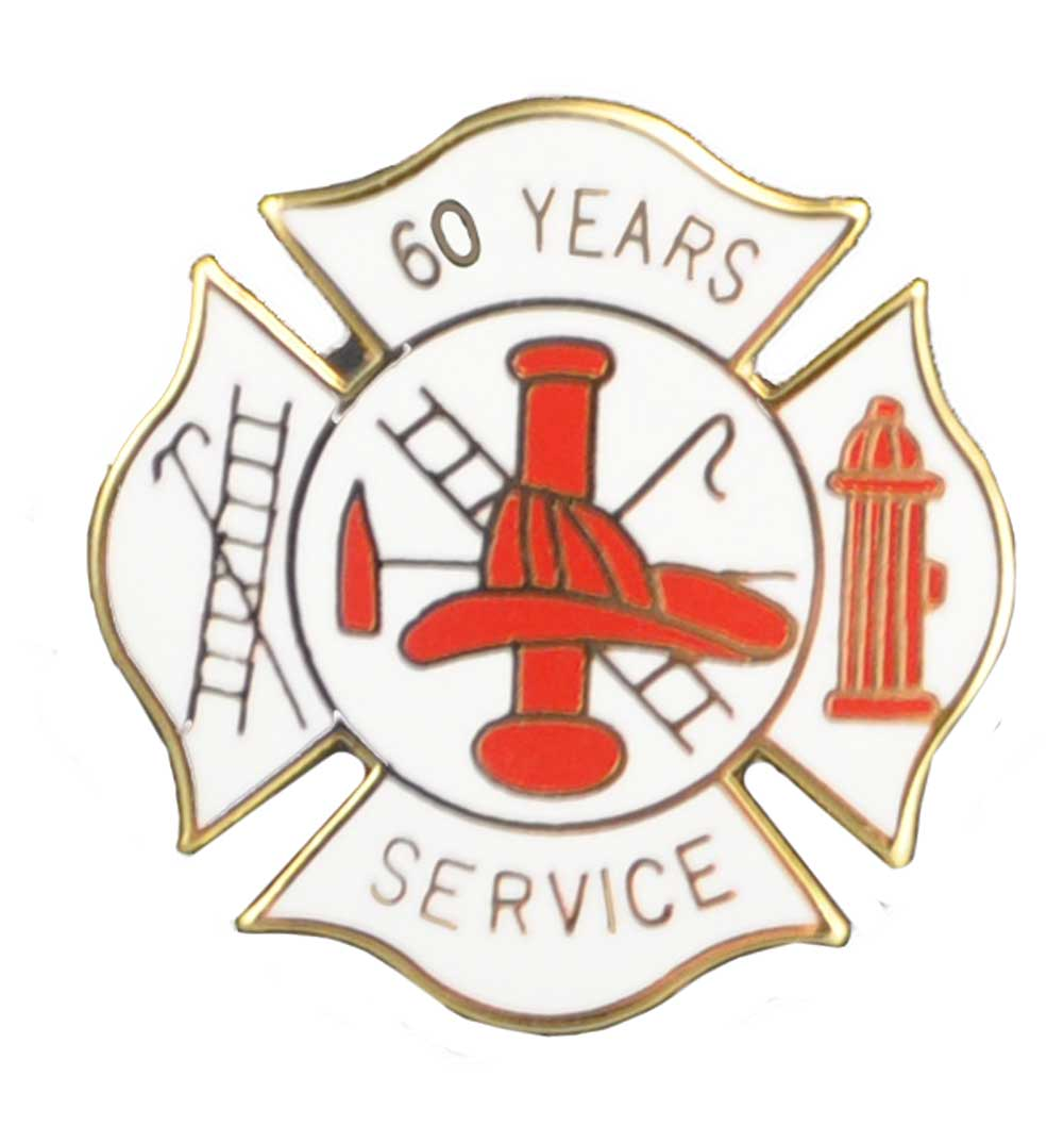 60 year Fire Service Pin