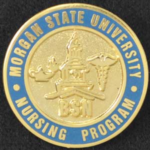 Morgan State University Nursing Pin Morgan State, Nursing Pin,