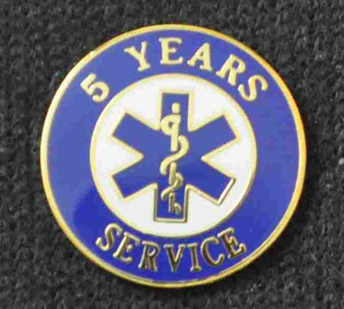 5 Year EMS Service Pin