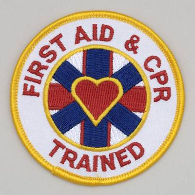 Embroidered Patch - First Aid and CPR Trained